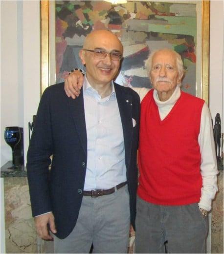 Il Dott. Piero Notarrigo insieme all'editore Dott. Alfredo Martina.