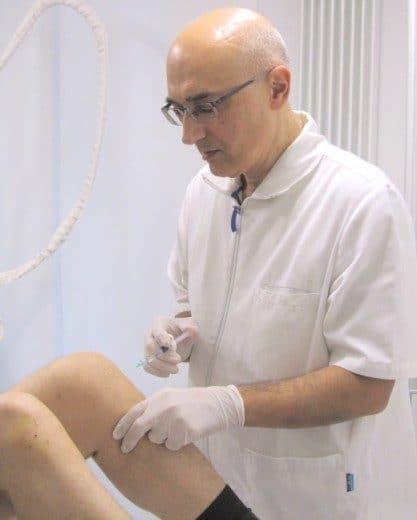 Infiltrazioni intrarticolari ginocchio Dott. Notarrigo Fisiatra San Lazzaro Bologna